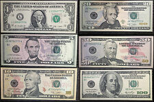 UNC Set Mint Lucky 777 US Notes Rare American Collection $100 $50 $20 $10 $5 $1