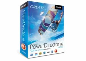 Power Director 16 Ultra Video Editing Software Cyberlink NEW SEALED DIS