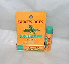3 x BURT'S BEES SOOTHING LIP BALM EUCALYPTUS & MENTHOL * 100% NATURAL * NEW BOXD