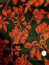 """Symphony Fabric 41""""x58"""" black with red flowers silky"""