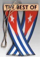 Rear view mirror car flags Cuba cuban unity flagz for inside the car