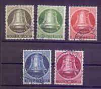 Berlin 1951 - Glocke Rechts - MiNr. 82/86 rund gestempelt - Michel 90,00 € (906)