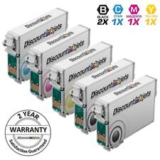 5 Reman Black Color Ink Cartridge for Epson 124 T124 Printer Stylus NX420 NX430