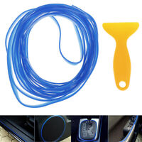 5M Blue flexible car styling interior molding trim decor strip gap filler kit UQ
