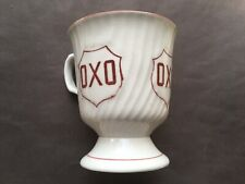 More details for c1920s vintage oxo maroon print china advertising mug