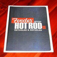 Fender HOT ROD III amplifiers brochure 2010 catalog Deville Deluxe Junior 410