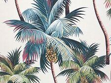 Tropical Hawaiian 100% Cotton Barkcloth Upholstery FABRIC ~Palm Trees~