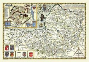 Map of Somersetshire 1611 by John Speed - 1000 Piece Jigsaw Puzzle