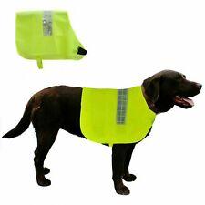 DOG HI VIZ HIGH VISIBILITY WALKING OUTDOOR SAFETY COAT JACKET VEST - M,L,XL,XXL