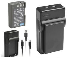 1200mAh EN-EL9 EN-EL9a Battery + USB Charger for Nikon D5000 D3000 D60 D40 D40X