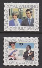 1981 Royal Wedding Charles & Diana MNH Stamps Stamp Set Bahamas SG 586-587