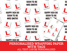 Hen Party Personalised Wrapping Paper with Free Tags Hen Do (2)