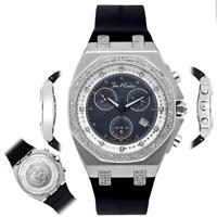 Men's Diamond Watch Joe Rodeo Panama JPAM2 2.15 Ct Octagon Black Dial
