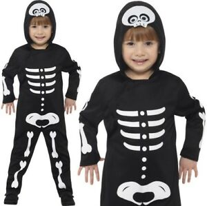 Toddler Halloween Fancy Dress Skeleton All in One Costume Suit by Smiffys