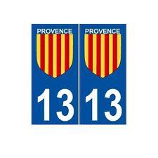 13 Provence sticker numéro choix autocollant plaque département logo2 droits