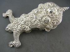 RARE Sterling S KIRK & SON Desk Clip / Paper Holder REPOUSSE