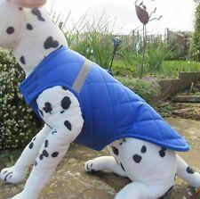 "Medium Dog Coat. Quilted-Waterproof. 15"" Long 21-23"" Wide. Royal Blue"