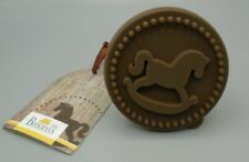 "RBV Birkmann Wooden Cookie Stamp Rocking Horse 3"" Diameter"