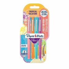 Paper Mate Flair Felt Tip Medium Tropical Colours - Pack of 4