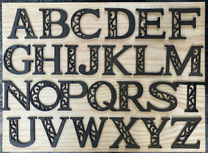 """Metal Cast Iron Large House Apt Alphabet Letters Numbers Outdoor 4.5"""" w/ Screws"""