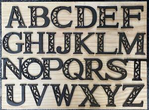 Cast Iron Metal Letters A to Z Alphabet Initials Monogram Letter Apt Outdoor