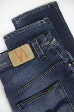 RRP $246 NUDIE Jeans THIN FINN BLACK WEFT INDIGO Men's W31/L32 Jeans 2350_mm