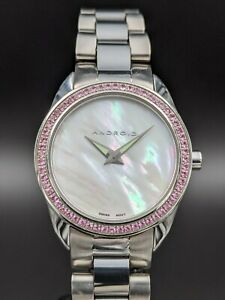 Android USA (now Aragon) Lady Skyline 0.60 ct. Pink Sapphire Watch ref. AD297D