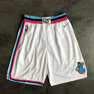 NEW Miami Heat Men's White Basketball Shorts Size: S-XXL