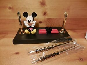 DISNEY MICKEY MOUSE DESK SET PENS CARD HOLDER - NEW IN BOX 1990'S - RARE