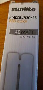 3 Lot: Sunlite, 40WATT, FT40DL/830/RS, 830 color, 2G11 Base 4-pin, # 02130, NEW