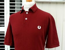 """FRED PERRY X NIGEL CABOURN MAROON POLO - 48"""" - M/L/XL - SKA MOD SCOOTER CASUALS"""