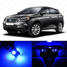 10 x Ultra Blue LED Interior Light Package For 2010 - 2015 Lexus RX350 RX450h