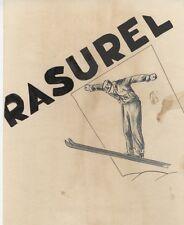 """""""RASUREL"""" Maquette originale encre de Chine aquarellée sur papier 23x29cm"""