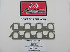 "Ford Cleveland Exhaust Gaskets(w/4V heads)(Boss 302-351-351 CJ)(1.800"" x 2.140"")"