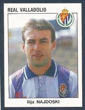 PANINI FUTBOL 93-94 SPANISH -#332-REAL VALLADOLID & MACEDONIA-LLIJA NAJDOSKI