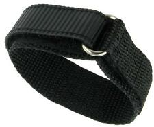 14mm Premium Nylon Sports Watch Band Dive Surf Super Tuff Black Heavy Duty NEW