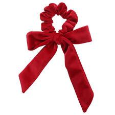 Velvet Scrunchies Elastic Hair Rings Scrunchy Bow Ponytail Holder Hair Tie Band