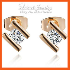 Unbranded Crystal Stud Rose Gold Fashion Earrings