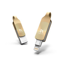 iKlips DUO+ 64GB Gold-iPhone Lightning/USB 3.1 Dual-Interface Flash Memory Drive