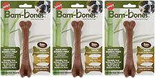 SPOT Bambones Bacon Bone 5.75 Inch Chew Toy for Dogs - 3 Pack