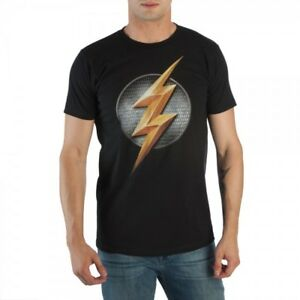 Justice League Flash Logo Men's T-Shirt - Officially Licensed