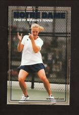 Notre Dame Fighting Irish--1998-99 Tennis Pocket Schedule