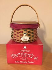 Longaberger 2003 Tree Trimming Melody Basket Set with Original Box - Mint Cond!