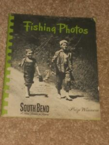 1945 South Bend Bait Co Vintage Booklet- Fishing Photos What Tackle and When