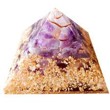 Amethyst Stone Reiki Healing Pyamid Natural Crystal Spiritual Energy Gemstones