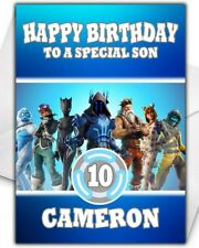 Fortnite Birthday Card - Personalised - Son Grandson Brother Boy Children - D5