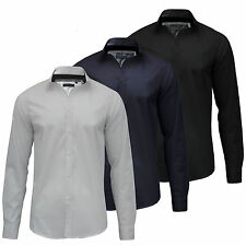 Brave Soul Men's No Pattern Long Sleeve Casual Shirts & Tops