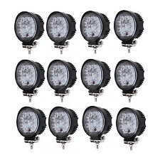 12pcs 27w Led Work Light Spot Beam Round  SUV 4WD Driving Fog Lamp Truck Offroad
