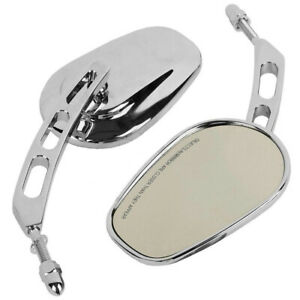 Motorcycle Rear View Mirrors Chrome Fit for Harley Electra Glide Fatboy Softail