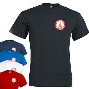 T shirt Uomo in cotone VIGILI DEL FUOCO Maglia estiva a manica corta con stampa
